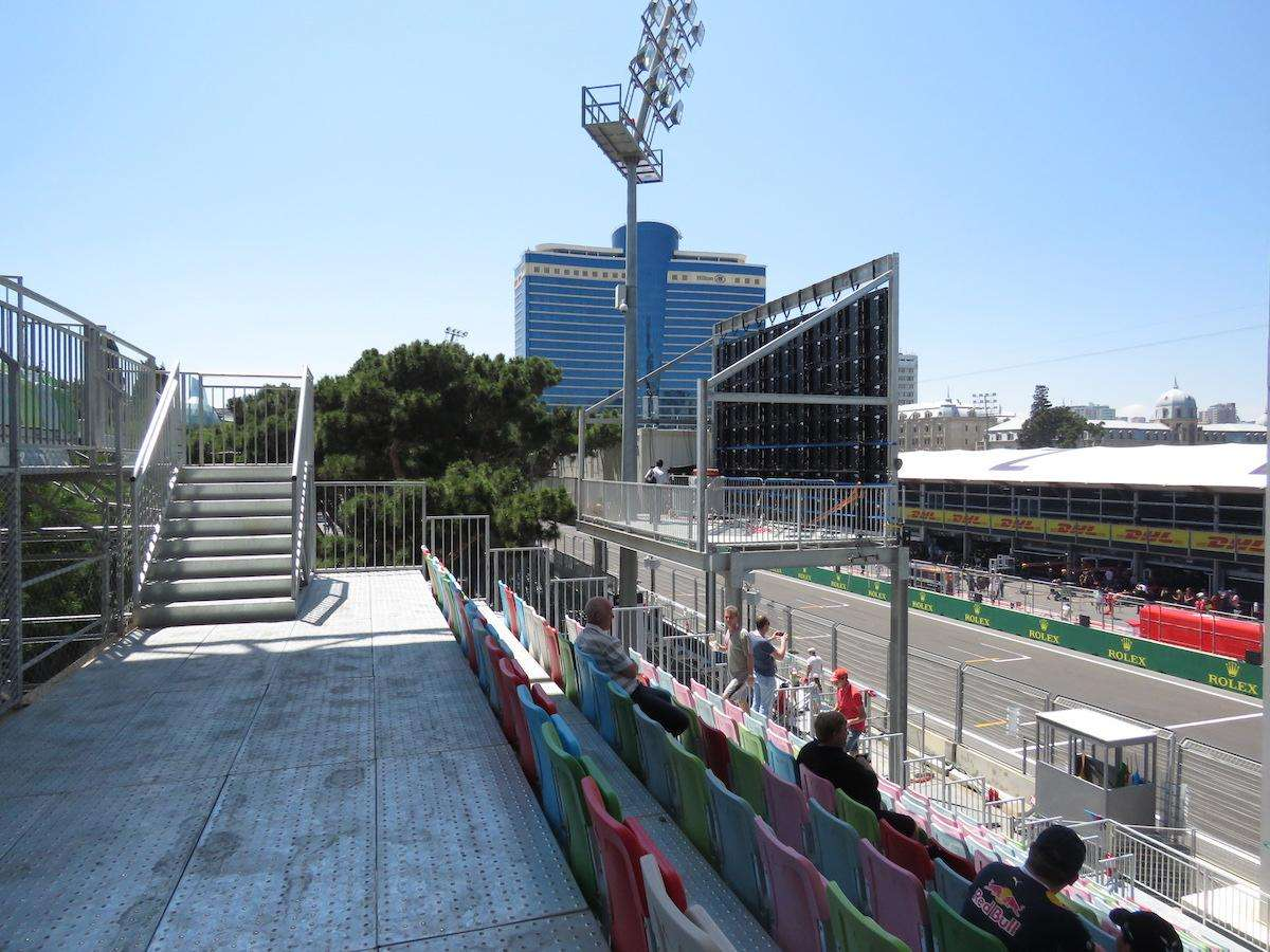 2017-AZERBAIJAN-GP-Absheron-C-view-of-podium-blocked-except-for-highest-few-rows-towards-left-of-stand